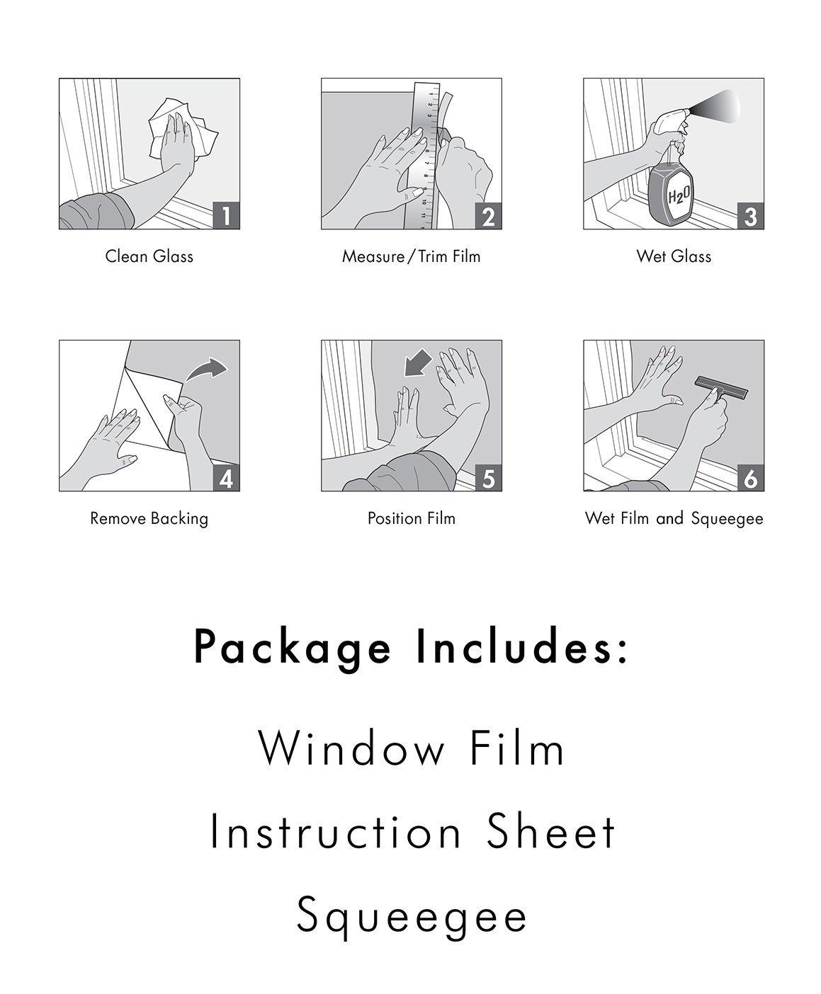 ARTSCAPE Etched Leaf Sidelight Window Film 12'' x 83'' by ARTSCAPE (Image #5)