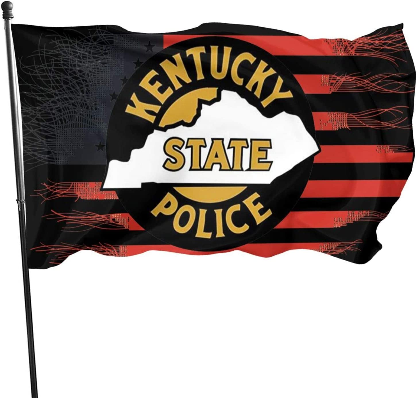 ROLFUSHA Kentucky State Police Flag 3x5 Feet Tough Durable Colorfast Flag Indoor/Outdoor Polyester Flag Garden Office Flag Decorate
