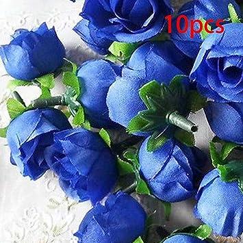 Gezichta Kunstliche Rosen Blumen Girlande Hochzeit 10 Dunkelblau