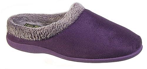 Zapatillas de andar por casa para mujer, de espuma con efecto memoria, color morado: Amazon.es: Zapatos y complementos