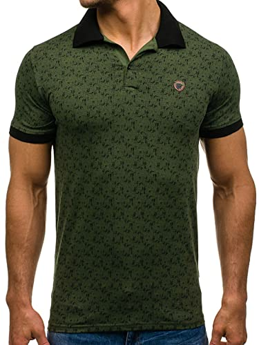 BOLF Hombre Camiseta Polo Manga Corta ZAZZONI 1095 Verde M [3C3 ...