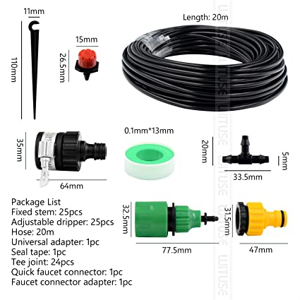 1 Set Dripper Plant Watering Tee Joint Hose Timer Micro Drip Irrigation System