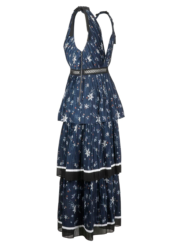 3442dc5f57e8 Self-Portrait Women's SP20119MNAVY Blue Polyester Dress: Amazon.co.uk:  Clothing