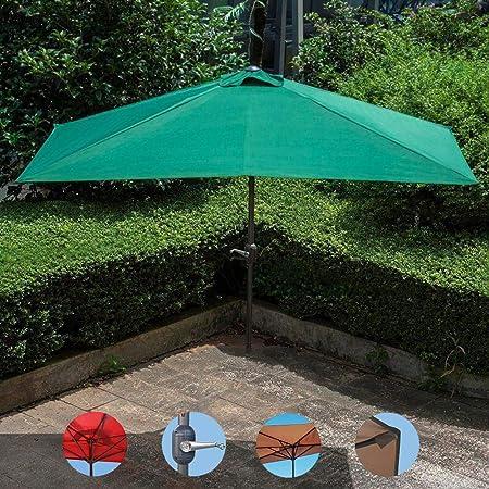 Parasol HFDIG Exterior de Medio Patio, sombrilla, 2.3x1.2m, manivela semicircular de terraza al Aire Libre, terraza pequeña, terraza, jardín, protección UV.: Amazon.es: Hogar