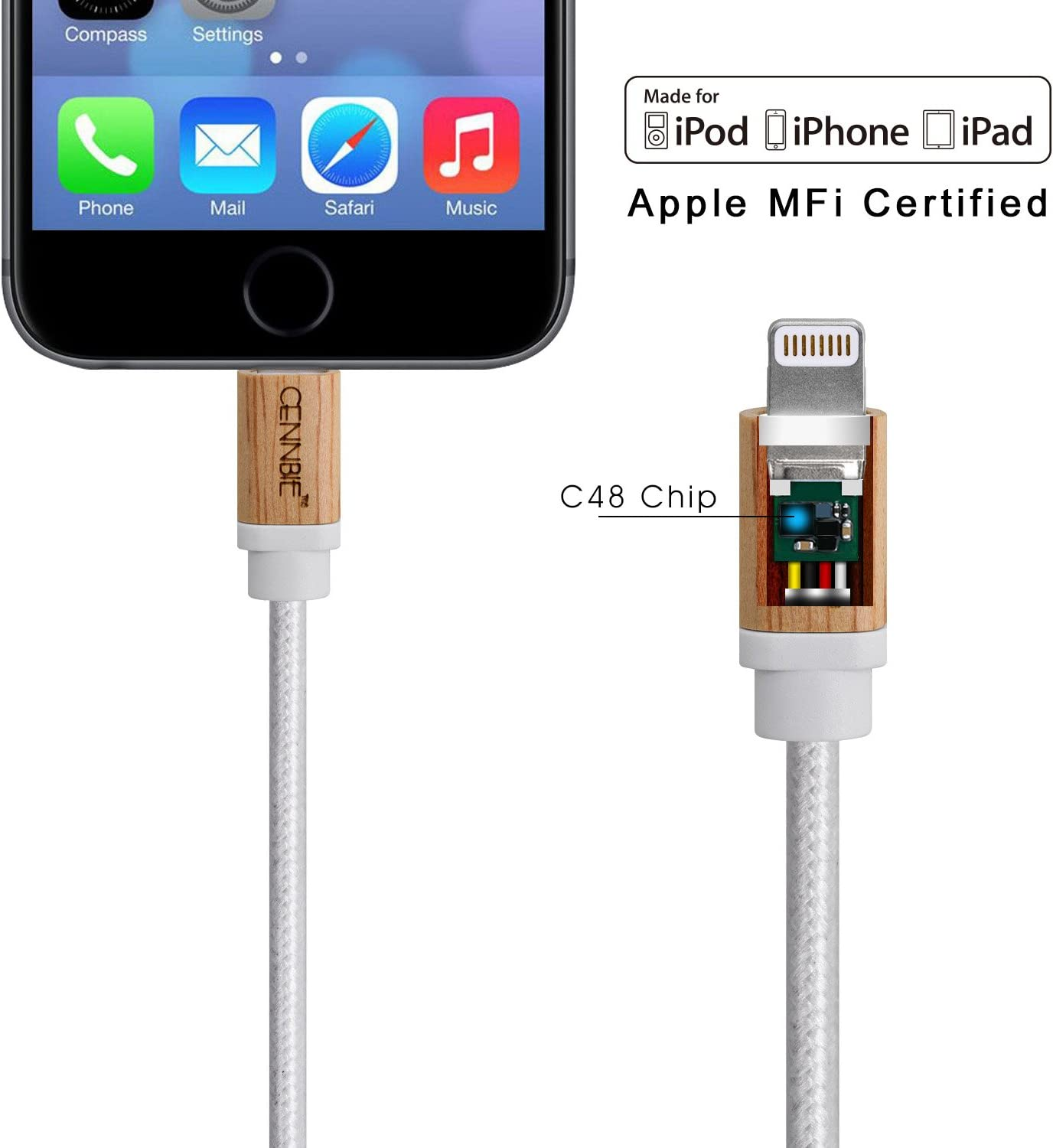 MFi Certified iPhone Charger Lightning Cable Nylon Braided USB Charging /& Syncing Cord with Leather Strap Compatible iPhone Xs//Max//XR//X//8//8Plus//7//7Plus//6S//6S Plus//SE//iPad