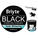Briyte ® BLACK Charcoal TEETH WHITENING Powder ACTIVATED CHARCOAL Coconut Powder with IRON