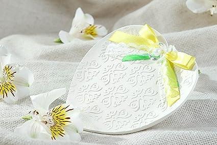 Plato porta alianzas hecho a mano regalo original accesorio para boda estiloso