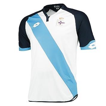 Lotto RC La Coruña Official Camiseta Deportiva, Hombre, Blanco, M: Amazon.es: Deportes y aire libre