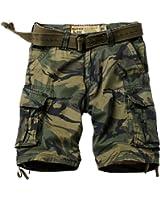 MUST WAY Men's Multi Pocket Slim Fit Cotton Twill Cargo Shorts