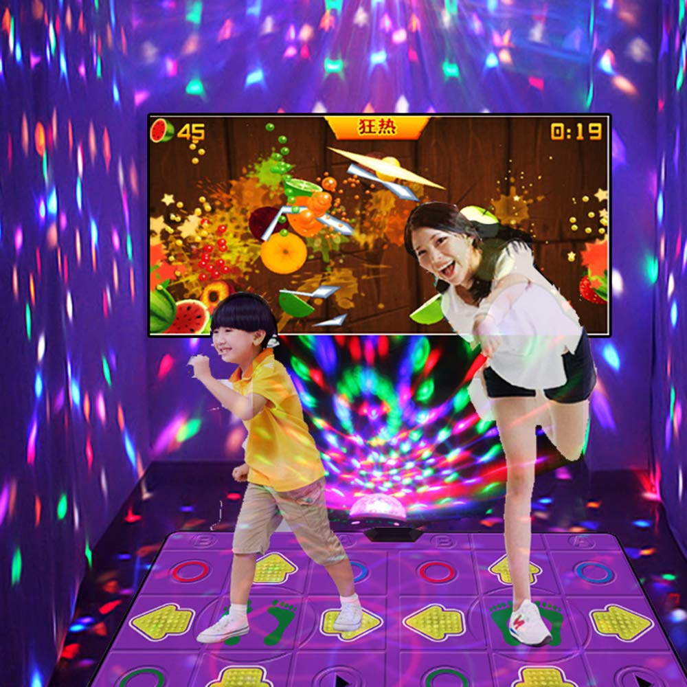 Dance mat Double Yoga to Lose Weight Somatosensory Game Machine Parent-Child Education Gift PU Material Comfortable 3D Carpet Non-Slip, Unlimited Download Song Game by Dance mat (Image #5)