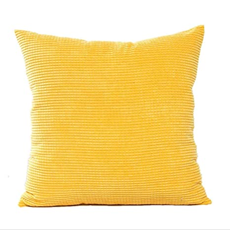 Westeng Funda para cojín cuadrado Almohada para Home de 45 x 45 cm (amarillo)