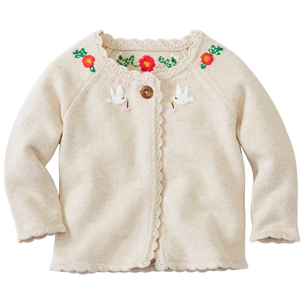 Hanna Andersson Baby Toddler Hand Embroidered Cardigan