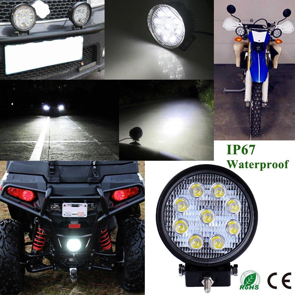 90W LED Barre de Travail Phares,ALPHA DIMA 12V 24V IP67 /étanche Longue Port/ée LED Projecteur pour V/éhicule Tout-terrain Bateaux,Camion,Voiture