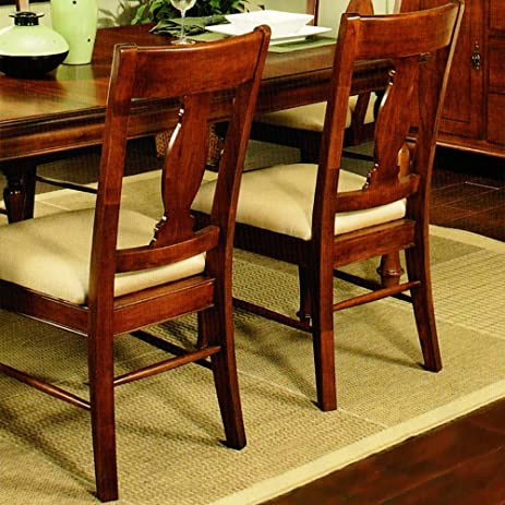 Amanda Home Dining Collection American Heritage Solid Cherry Wood Side  Chair (Set Of 2)