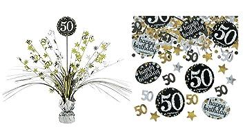 Feste Feiern Geburtstagsdeko Zum 50 Geburtstag 2 Teile All In One