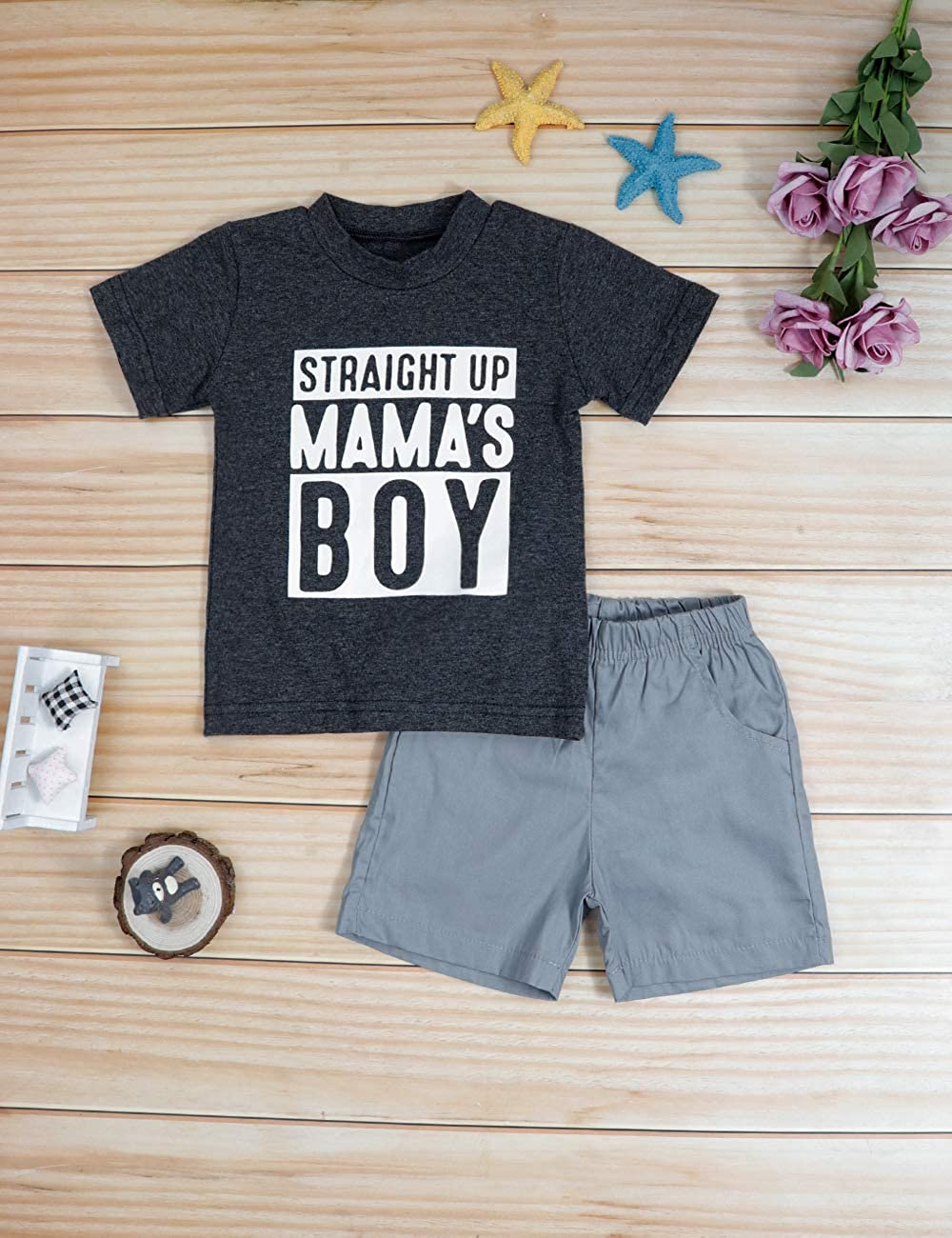 Toddler Baby Boy Clothes Mr Onederful Print Short Sleeve T-Shirt and Shorts First Birthday Outfit Set