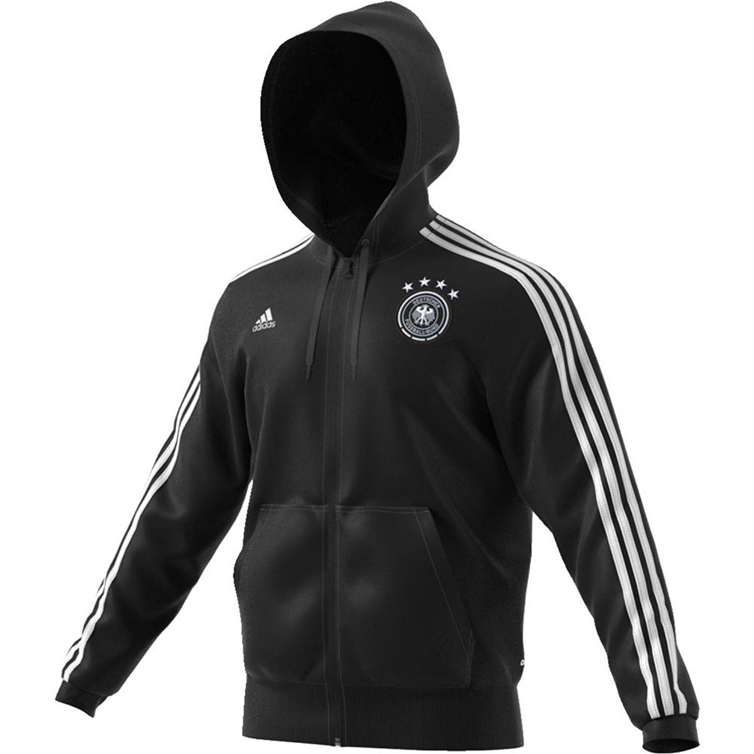 a1f1fdc34 Amazon.com : adidas Mens Germany 3 Stripes Full Zip Hoodie : Sports &  Outdoors