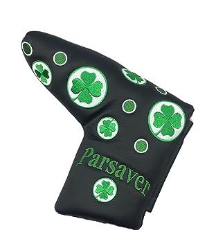 Parsaver Shamrock Lucky Clover Golf Blade Putter cubierta cubierta de trébol de cuatro hojas suerte para Scotty Cameron odisea Taylormade Titleist ...