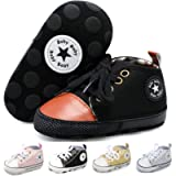 JOINFREE Baby Boys Baby Girls Canvas Shoes Prewalkers First Walking Toddler Shoes Walkers 0-18 Months