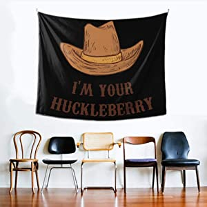 I'm Your Huckleberry Tapestry Wall Blanket Bedroom by Printed 60x51 Inches Vintage Décor Style Blanket Tapestries Retro Decor Living Room Decoration