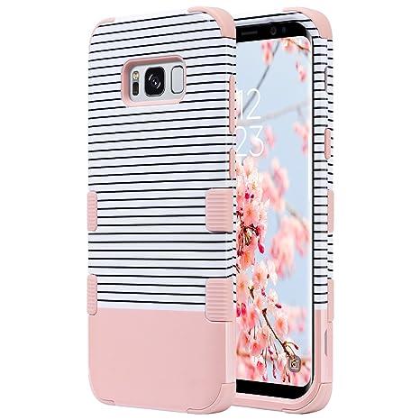 ULAK Galaxy S8 Coque, Samsung S8 Coque 3en1 Impact Hybride Antichoc en  Silicone Dur PC 9901c3ae1760