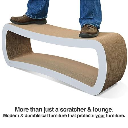 PetFusion Soporte de Descanso y rascador para Gatos, tamaño Grande, (99 x 28 x 36 cm). [Cartón y construcción, Dura Mucho más Tiempo Que alternativas: ...