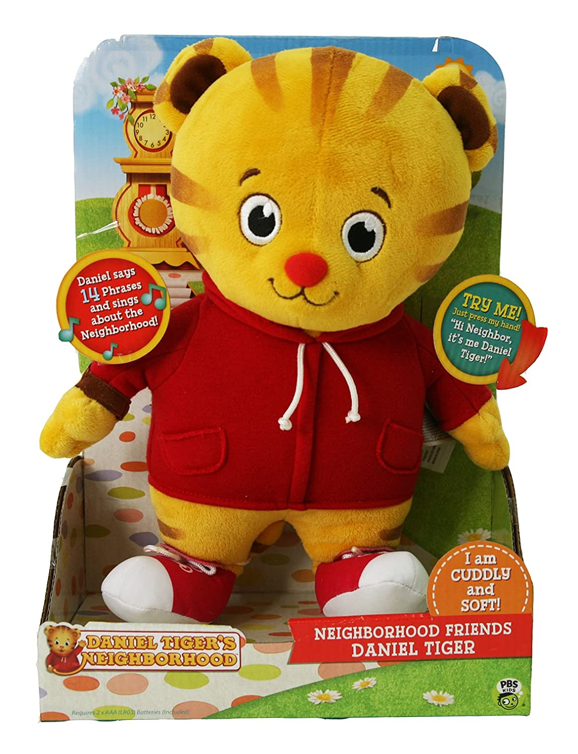 Amazon.com: Daniel Tiger\'s Neighborhood Friend Daniel Tiger Plush ...