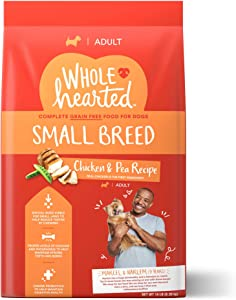 WholeHearted Grain Free Small-Breed Chicken and Pea Recipe Adult Dry Dog Food, 14 lbs.