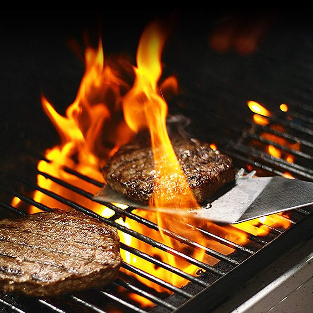 kit doutils en acier inoxydable de qualit/é professionnelle Id/éal pour la cuisine Doolland Ensemble de spatules pour barbecue le camping et le hayon