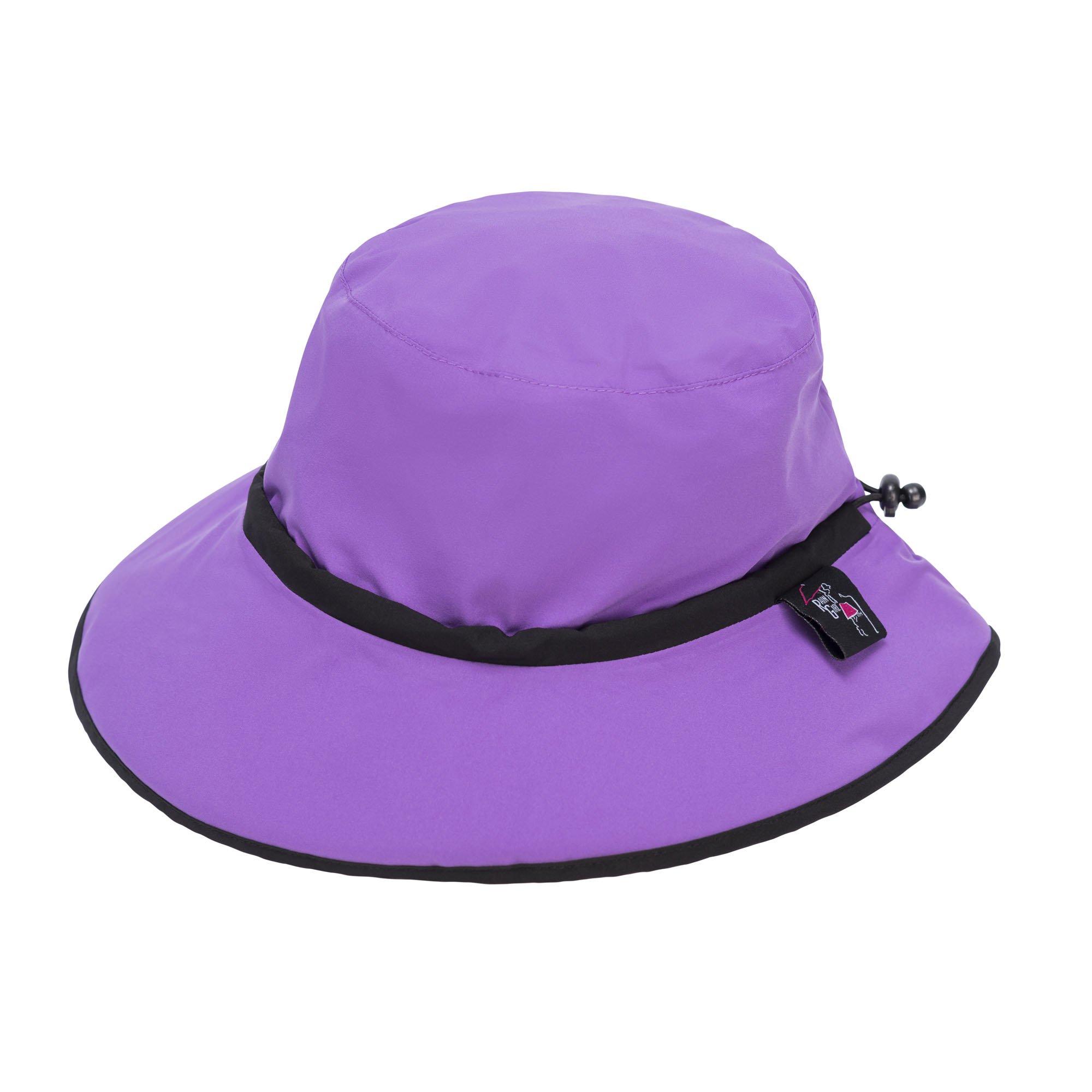 Rain Girl Golf Women's Rain Hat Purple with Black Trim