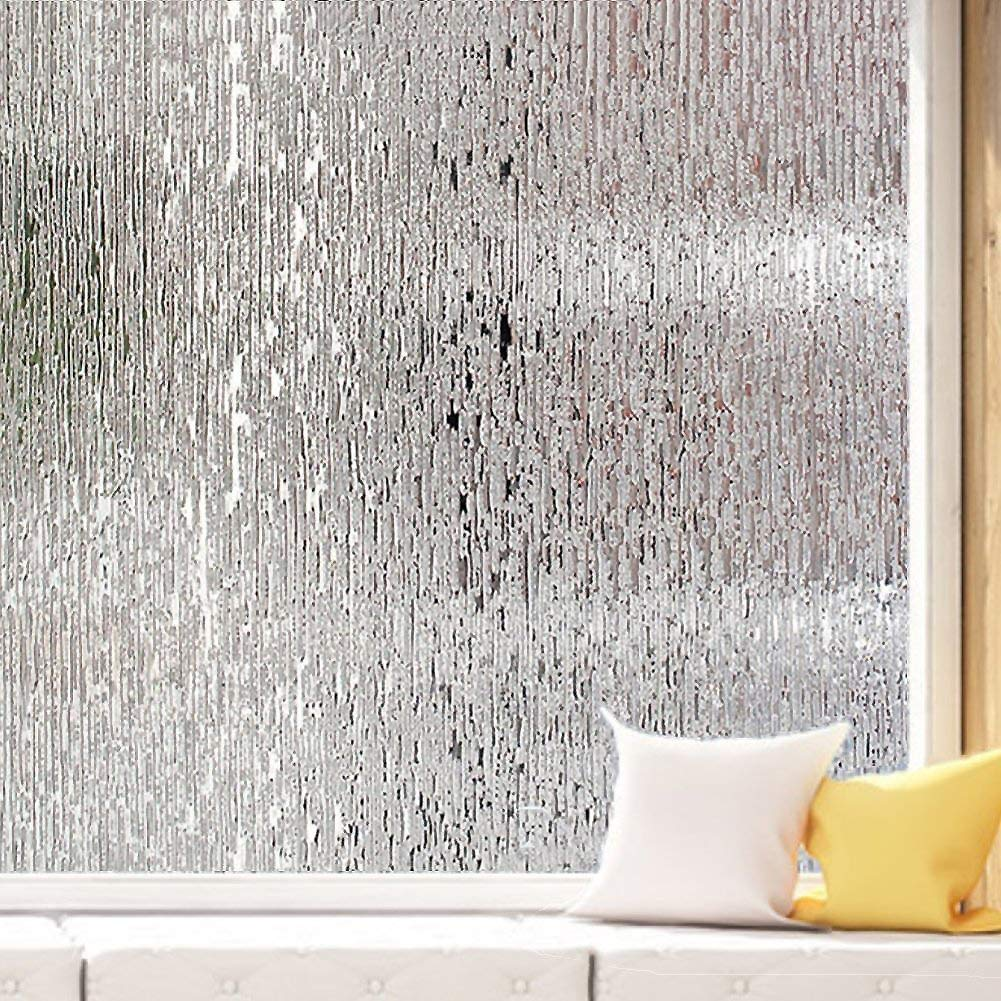 Removable Static Cling Decorative Glass Film, Uv Prevention Emboss Art Glass Sticker Frosted Glass Film Shower Window Films Office-A 35x39inch(90x100cm) ncnnsdjk