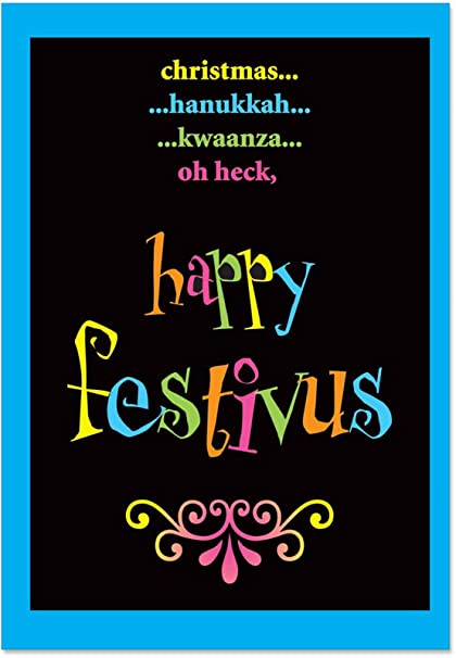 Amazon b1254 box set of 12 festivus oh heck funny christmas b1254 box set of 12 festivus oh heck funny christmas paper cards with envelopes parody m4hsunfo