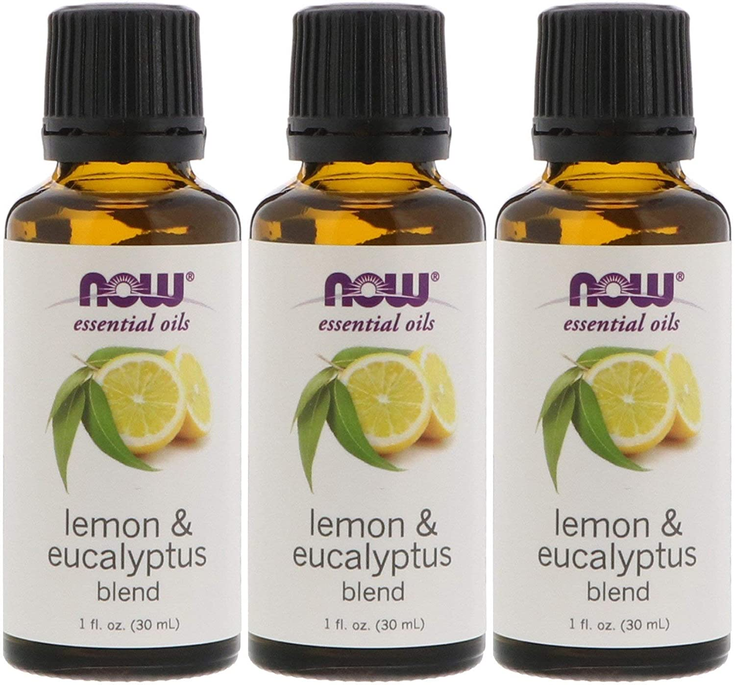Now Foods Lemon & Eucalyptus Blend Oil - 1 oz. 3 Pack