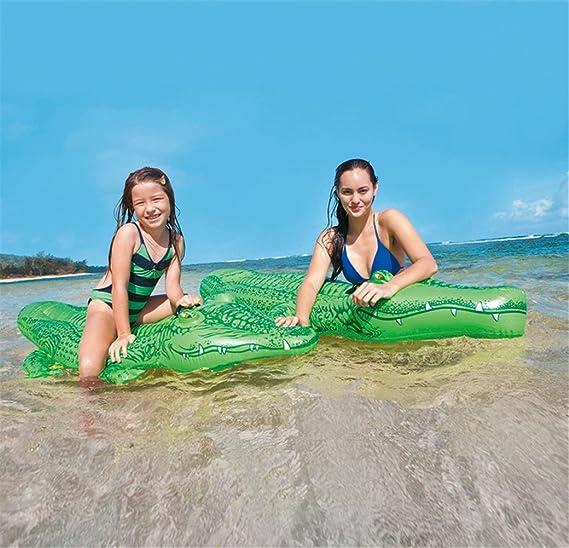 Baiyouli Inflable Cocodrilo Flotador Piscina Floatie Balsa Verano Diversión Piscina Juguete Playa Fiesta Verde para Niño 240 CM: Amazon.es: Hogar