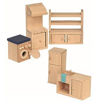 Puppenstubenmöbel Küche | Tiktaktoo Kuche Fur Puppenhaus Puppenstubenmobel Kuche
