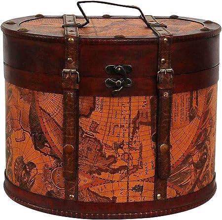 Sombrerera 34cm Sombrerero Cajas para Sombrero Estilo Antiguo decoración: Amazon.es: Hogar