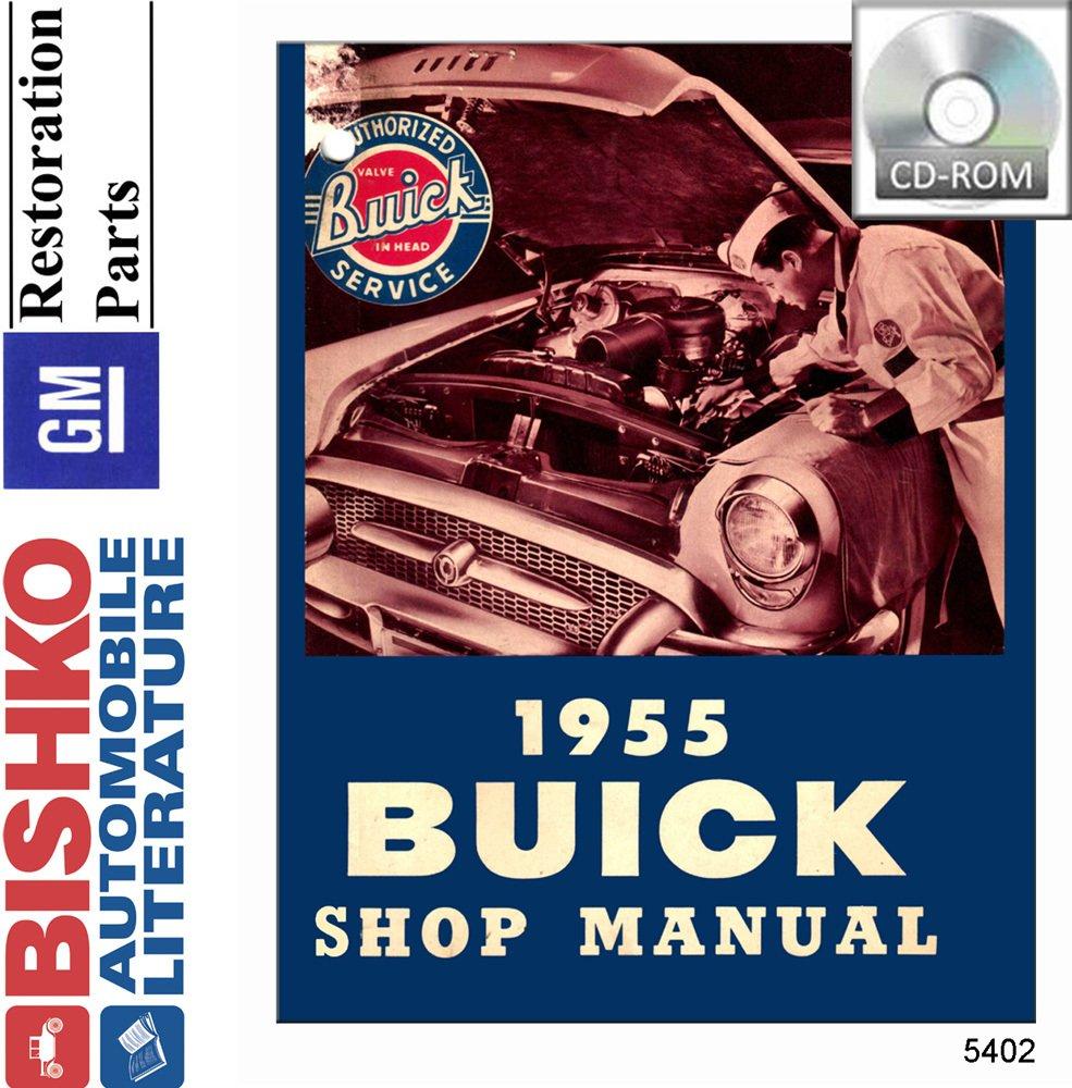 Bishko Automotive Literature 1955 Buick Special Roadmtr Wiring Super Century Shop Service Repair Manual Cd Engine