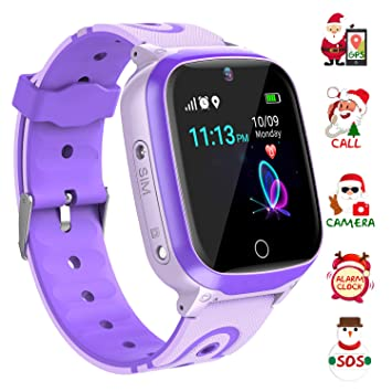 Relojes inteligentes para niños - Música Reloj inteligente Teléfono para niño Niña Relojes inteligentes Pantalla táctil HD Deportes Relojes ...