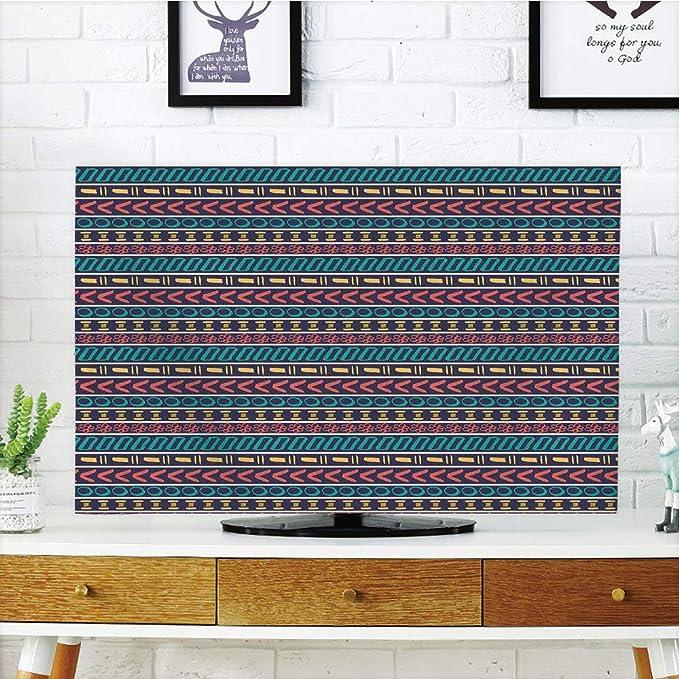 Funda para televisor LCD, diseño de Rayas, Turquesa, líneas ...