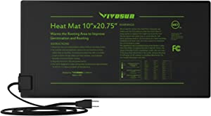 VIVOSUN 2 Pack Durable Waterproof Seedling Heat Mat Warm Hydroponic Heating Pad 10 x 20.75 Inch