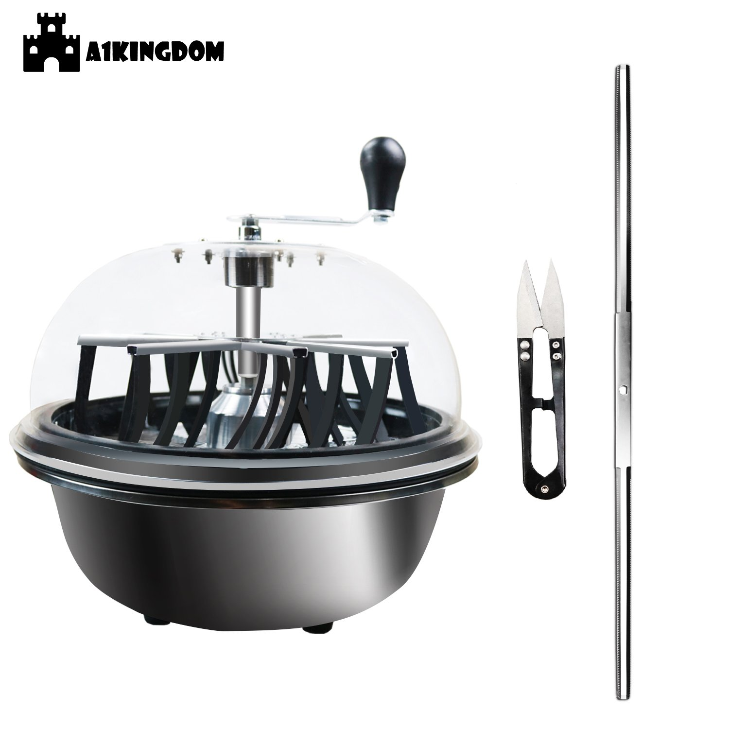 A1KINGDOM 16-inch Hydroponic Leaf Bowl Bud Trimmer Hand Twisted Spin Cut for Plant Herb and Flower with Upgraded Gears