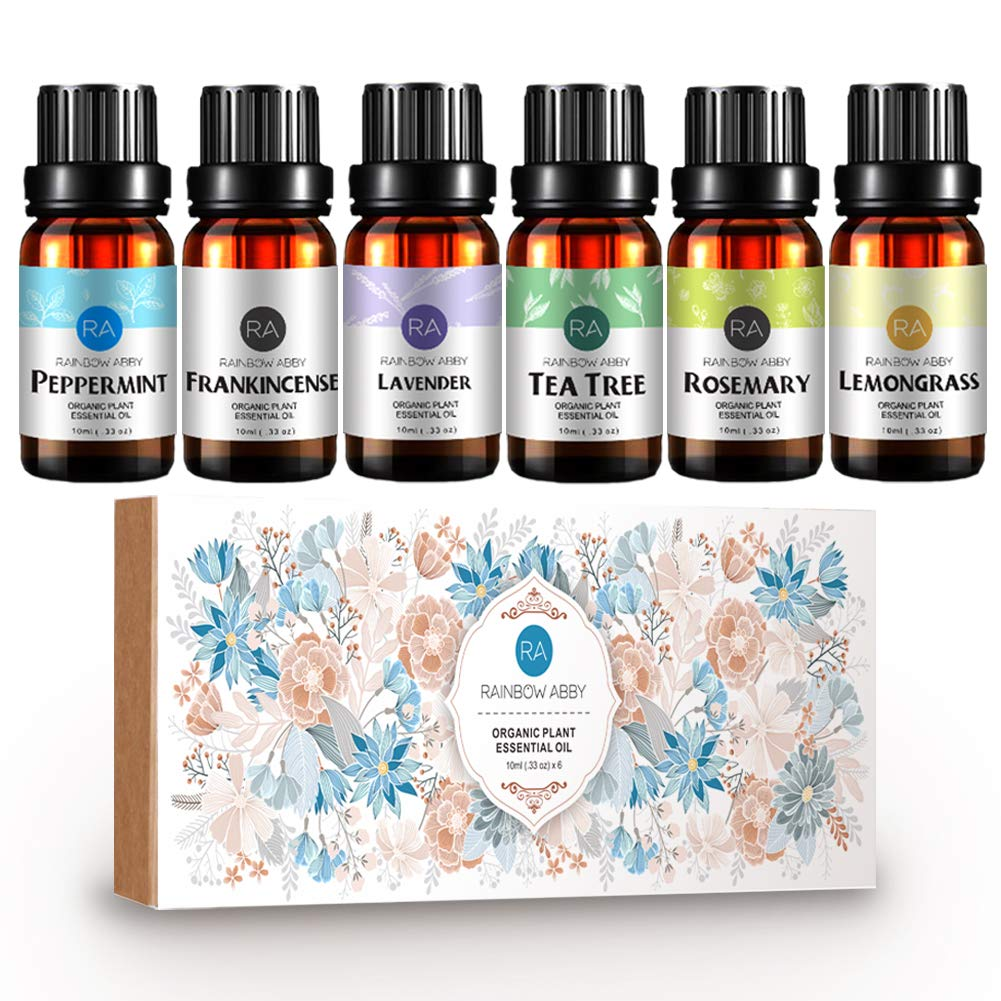 Aromatherapy Top 8 Essential Oils, 100% Pure Natural Therapeutic Grade - Lavender, Tea Tree, Eucalyptus, Lemongrass, Orange, Peppermint, Frankincense, Rosemary Haniman Biotech