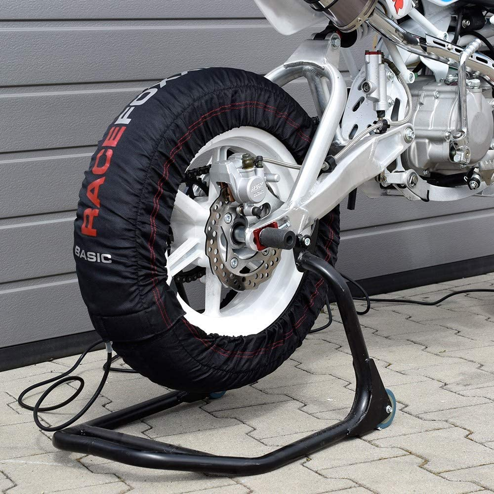Reifenwärmer Tire Warmers Pitbike Racefoxx Basic 80 C Heiztemperatur 12 Zoll Auto