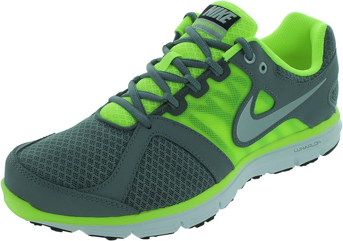Nike Lunar Forever 2, Zapatillas de Running para Hombre, Gris/Plateado/Verde/Blanco (Cool Grey/Mtllc Slvr-Vlt-White), 47 EU: Amazon.es: Zapatos y complementos