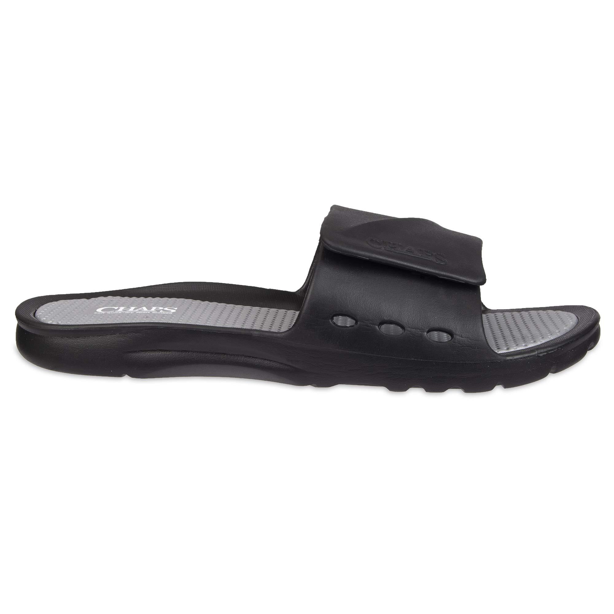 fe468976315c8 Details about Chaps Men's Slide Athletic Sandal Sandal, Black/Wh - Choose  SZ/color