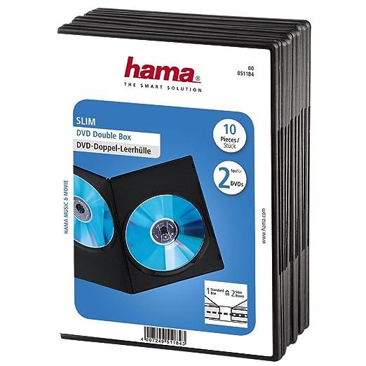 69 opinioni per Hama Custodia Slim per 2 DVD, Confezione da 10, colore: Nero