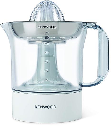 Exprimidor Eléctrico de Naranjas Kenwood JE290 - Potencia 40 W, 1 L, Rotación en 2 Sentidos, Filtro Acero Inox Apto para Lavavajillas
