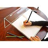 Playlearn - Soporte para escribir transparente, acrílico, para mejorar la postura de escritura, ángulo de 20grados
