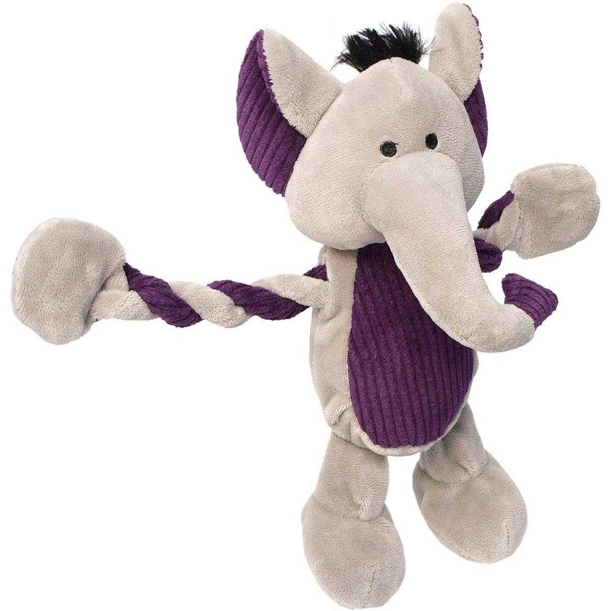 Charming Pet Products Pulleez Elephant Plush Dog Toy