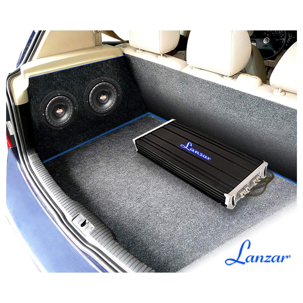 Lanzar 8 inch Car Subwoofer Speaker Black Non-Pressed Paper Cone MAXP84 Aluminum Voice Coil 4 Ohm Impedance 800 Watt Power and Foam Edge Suspension for Vehicle Audio Stereo Sound System
